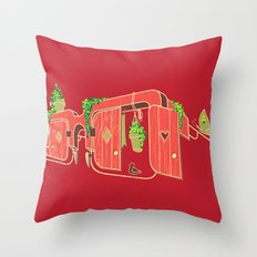 Wood-Glasses Throw Pillow