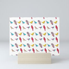 Don't Feed the Birds Pattern Mini Art Print