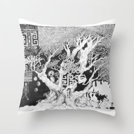 Surreal Tree Throw Pillow
