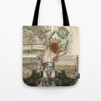atlas Tote Bags featuring Atlas by DIVIDUS