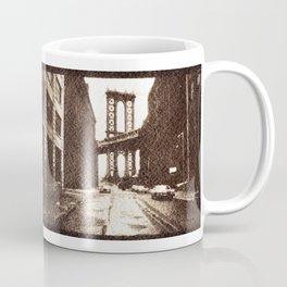 Manhattan Bridge in the 70s Coffee Mug
