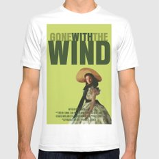 Gone With The Wind MEDIUM Mens Fitted Tee White