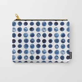 Indigo Circles Watercolor Pattern Carry-All Pouch