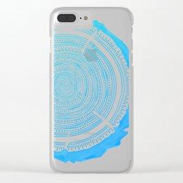 Douglas Fir – Blue Ombré Clear iPhone Case