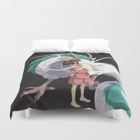 spirited away Duvet Covers featuring Spirited Away by ThisTinyBean.