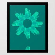 hands on Art Print