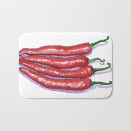 Red Hot Chilis Bath Mat