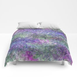 Color Leaf Explosion Abstract Comforters