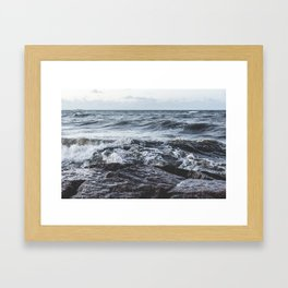 Rough Sea Framed Art Print