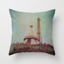 Bohemia of Paris Throw Pillow