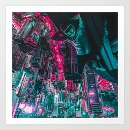 Cyberpunk Mask Art Print
