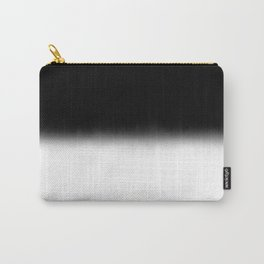 Black and White Split Fade Inverse Carry-All Pouch