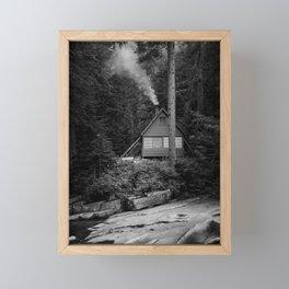 Cabin Smoke Framed Mini Art Print