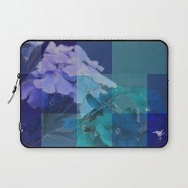Purple And Blue Tiled Verbena Laptop Sleeve