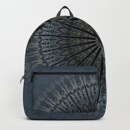 Dark Blue Mandala Backpack