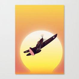 Vintage fighter plane Canvas Print