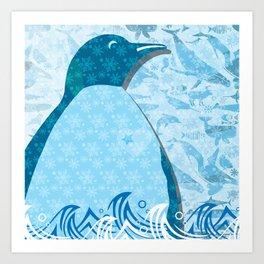 Penguin: Love Art Print