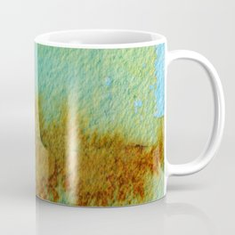 Rusted Turquoise Abstract Painting Coffee Mug