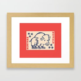 BUFFALO PAR Framed Art Print