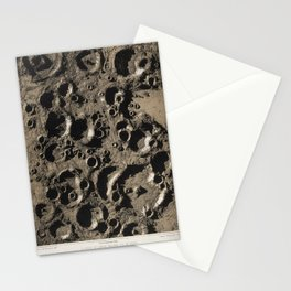 James Nasmyth - A Group of Lunar Craters Southeast of Tycho (1863) Stationery Cards
