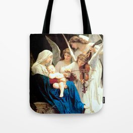 Madonna with Infant Jesus and Angels Virgin Mary Art Tote Bag