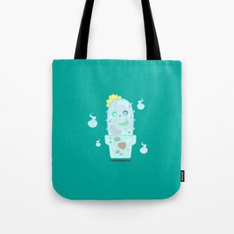 Ghostly Cactus Tote Bag