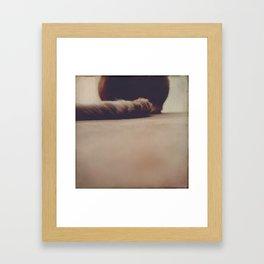 it's a tail Framed Art Print