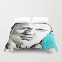 alex turner Duvet Covers featuring Alex by ShayMacMorran