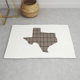 Texas State Shape: Brown Rug