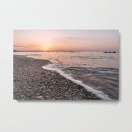 Last rays of light at sunset Metal Print