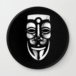 VforVendetta Mask Sculpture Wall Clock