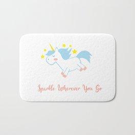 Sparkling Unicorn Bath Mat