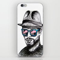 rave iPhone & iPod Skins featuring Reflective Rave by Samantha J Creedon