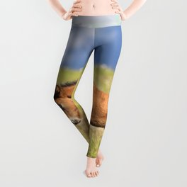 Watercolor Horse 30, Icelandic Pony, Höfn, Iceland, Stretch! Leggings