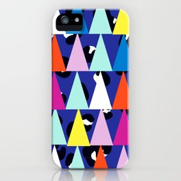 Triangle Animal Print in Royal Blue iPhone Case