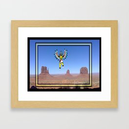 Eagle Kachina Over Monument Valley Framed Art Print