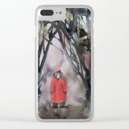red coat Clear iPhone Case