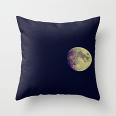 Two Stars and a Moon Throw Pillow
