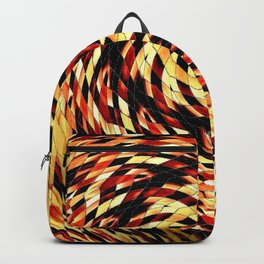 Red Black Yellow Kaleidoscopic Ball Circle Backpack