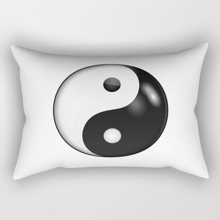 Yin Yang Symbol Of Harmony And Balance Rectangular Pillow By