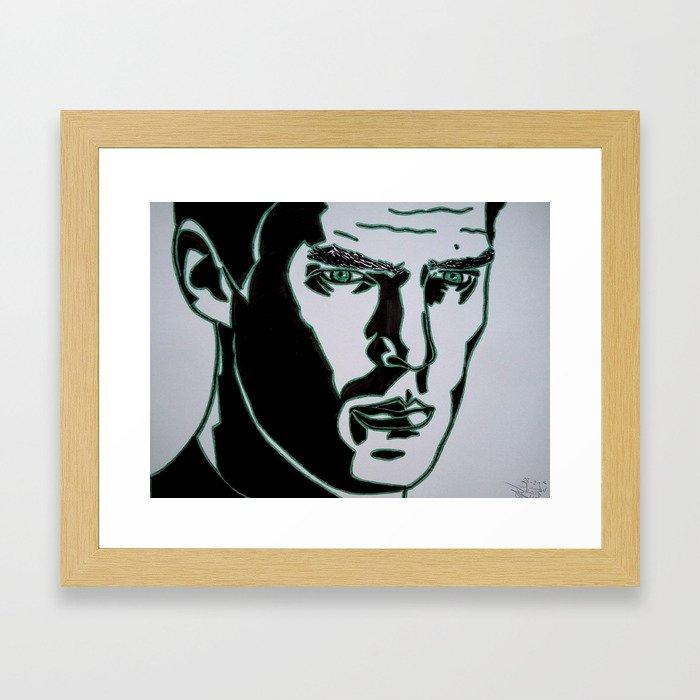 Khan Felt Tip and Brush Pen Framed Art Print