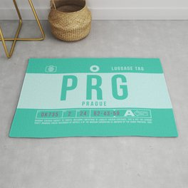 Baggage Tag B - PRG Prague Czech Republic Rug
