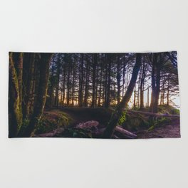 Wooded Tofino Beach Towel