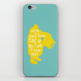 Sometimes the Smallest things - Winnie the Pooh inspired Print iPhone Skin