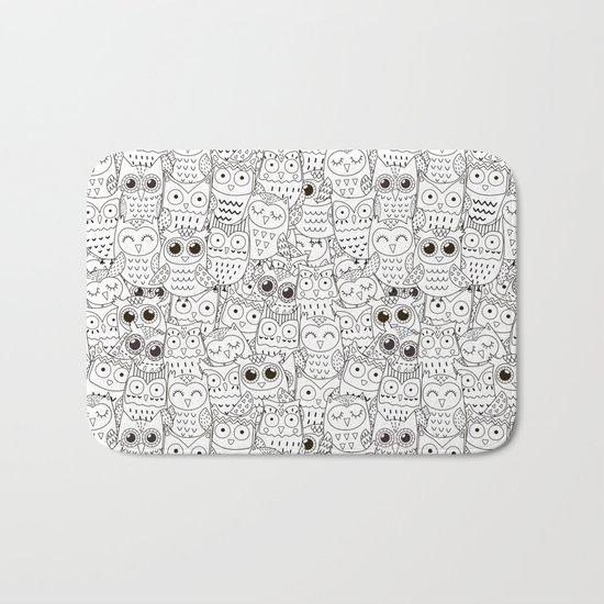 Kiss My Owl Bath Mat