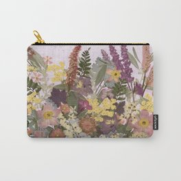 Pressed Flower English Garden Carry-All Pouch