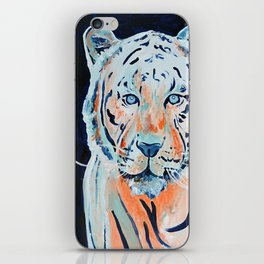 Blue and Orange Tiger iPhone Skin