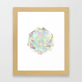 Milky White Opal Framed Art Print