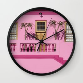 Cape Malay pink house Wall Clock