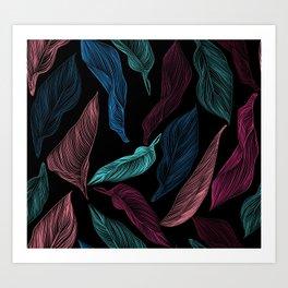 silk leaves Art Print